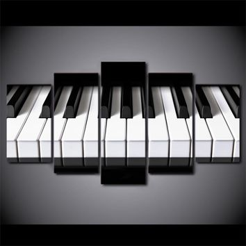 Music Wall Art - Piano Keys picture on canvas