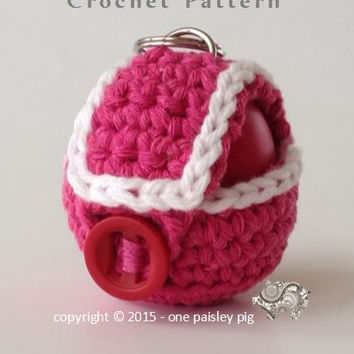 eos Lip Balm Holder / Case - Strap Style & Full Cover - PDF CROCHET PATTERN