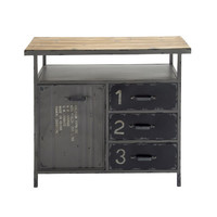 Woodland Imports Metal Wood Utility Cabinet & Reviews | Wayfair