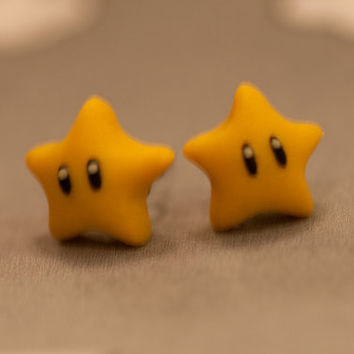 Nintendo Mario Star Earrings
