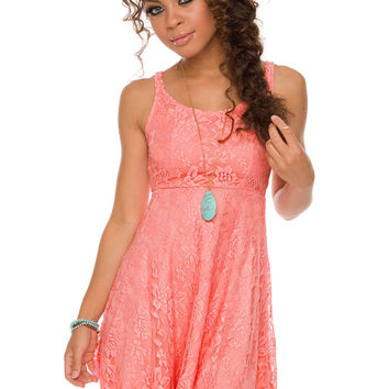 London Calling Dress - Peach
