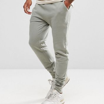 ASOS Skinny Jogger In Washed Khaki at asos.com