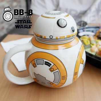 Creative Star Wars BB-8 Robot Porcelain Mug Personality Ceramic Coffee Cup Fun Tea Cup Zakka Tumbler for Children Friend Gift