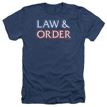 Law And Order - Logo Adult Heather
