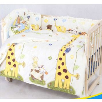 OUTAD 100*58cm/110*60cm 5pcs/Set Promotion Cotton Baby Children Bedding Set Comfortable Crib Bumper Baby Organizer Cot Kit New