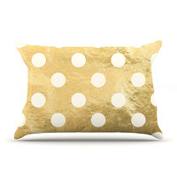 "KESS Original ""Scattered White"" Metallic Pillow Case"