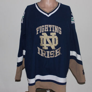 Vintage Notre Dame Fighting Irish Starter Hockey Jersey L