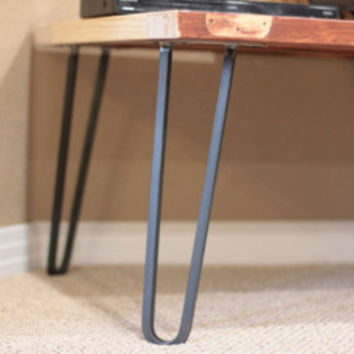 Hairpin Legs Set of 4 Hairpin Table Legs Mid by ModernUrbanMetals