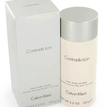 Contradiction for Women by Calvin Klein Sheer Body Powder 3.5 oz