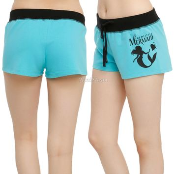 Licensed cool NEW Disney ARIEL THE LITTLE MERMAID Drawstring Lounge Sleep Pajama Shorts  JRS