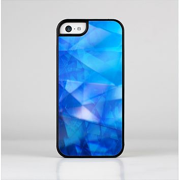 The Blue Abstract Crystal Pattern Skin-Sert Case for the Apple iPhone 5c