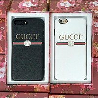 Tagre GUCCI Fashion iPhone Phone Cover Case For iphone 6 6s 6plus 6s-plus 7 7plus hard shell