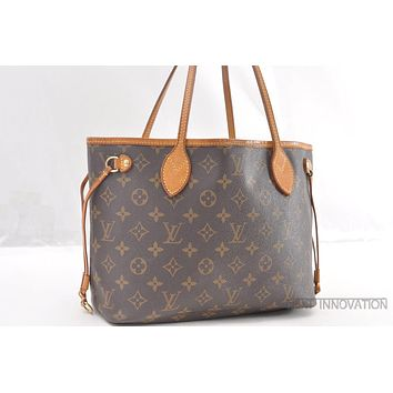 Authentic Louis Vuitton Monogram Neverfull PM Tote Bag M40155 LV 39481