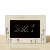 Whimsical Pictureframe with Chalkboard Flower by byAnnoDomini