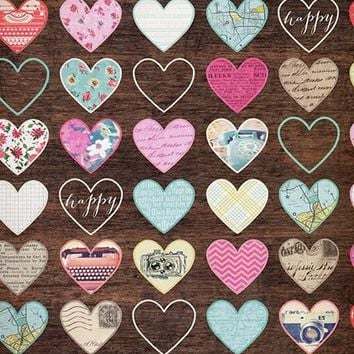 Vintage Hearts Printed Photography Backdrop / 428