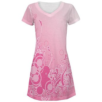 Pink Ombre Day Dream All Over Juniors Beach Cover-Up Dress