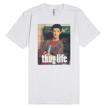 Saved by a thug-Unisex White T-Shirt