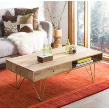 Shop Safavieh Marigold Natural Mango Coffee Table at Lowes.com