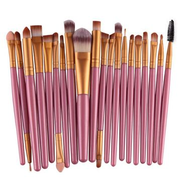 ELECOOL 4/6/12/20Pcs Make Up Brushes Set Eye shadow Concealer Makeup Brushes Set pincel maquiagem Cosmetic Makeup Tool