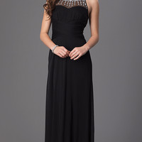 Black Long Sleeveless Prom Dress by Hailey Logan