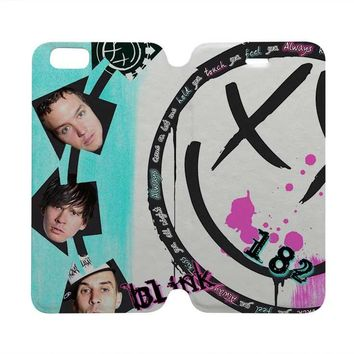 BLINK 182 Wallet Case for iPhone 4/4S 5/5S/SE 5C 6/6S Plus Samsung Galaxy S4 S5 S6 Edge Note 3 4 5