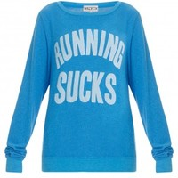 Boutique 1 - WILDFOX - Blue Running Sucks Sweater | Boutique1.com