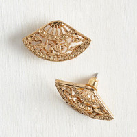 Vintage Inspired Fan With a Plan Earrings by ModCloth