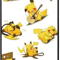 Pokemon Popular Cute Pikachu Apple iPhone 4 4S TPU Soft Black or White Cases (Black)