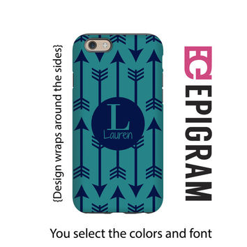 Boho Arrows Monogrammed iPhone case, iPhone 6s case, tribal arrows boho iPhone 6s plus case, iPhone 5c case,  iphone 5s case, 3D iPhone case