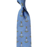 Sigma Chi Neck Tie in Light Blue by Dogwood Black