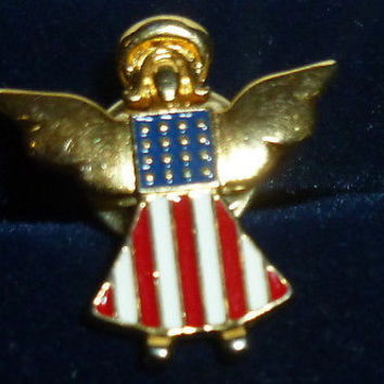 Angel Of The Military Pin