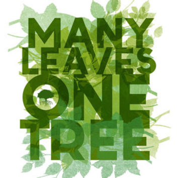 epic... many leaves one tree.. children's inspirational quote.. digital file