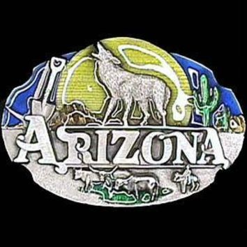Sports Jewelry & AccessoriesSports Accessories - Arizona Howling Wolf Enameled Belt Buckle