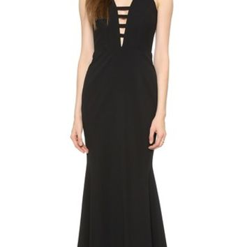 Mason by Michelle Mason Bar Strap Gown