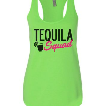 Tequila Squad Womens Workout Tank Top