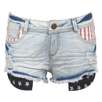Pilot Lucy Americana Detail Denim Shorts