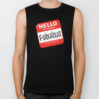 Hello My Name Is.... Fabulous! Biker Tank by Heather Dutton | Society6