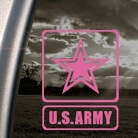 US ARMY Pink Decal Military Car Truck Bumper Window Pink Sticker