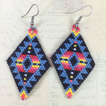 beading fancy pink wanelo resin beadwork ladies jingle earrings traditional beaded shop white pow on dancer wow