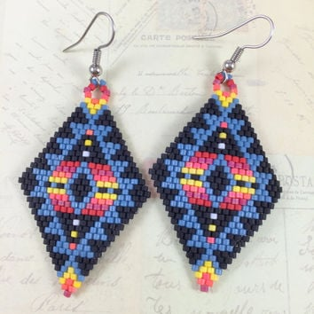 tutorials il delica instructions tutorial beads beadingday patterns beading listing beaded pattern earring diy jewelry earrings from and