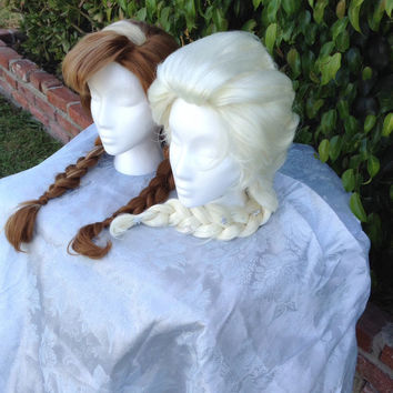 Princess Anna And Queen Elsa from Disney's Frozen Inspired Wig Sisters