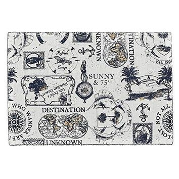 Travelogue Vintage Printed Cotton Placemat