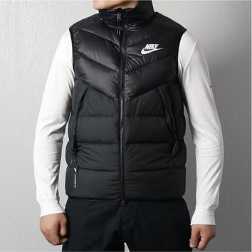 hcxx 456 Nike Sports down vest leisure warmth upright collar waistcoat Red