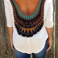 Molly Open Back Top in White