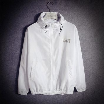 Casual Jacket White Couple Rashguard Hats Windbreaker [415607193636]