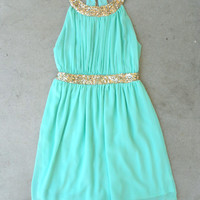 Grecian Embrace Dress in Mint