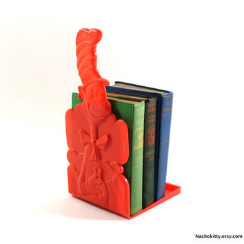 1970s Dr Suess Bookend, Cat in the Hat, Folding Book Stand, Promotional Mail Order Only Item