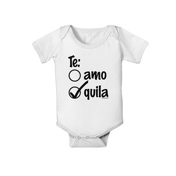 Tequila Checkmark Design Baby Romper Bodysuit by TooLoud
