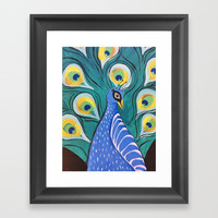 Feathered Friend II Framed Art Print by Express Yourself Studios, LLC