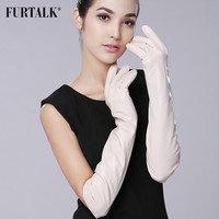 Super Long 50cm 60cm  Women's Supple Nappa Leather Opera Dressing Gloves